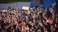 MS Shot of People enjoying concert at City hall Plaza / Seoul, Seoul, South Korea