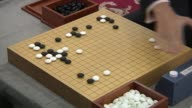 Shot of People playing a Go board Game(A Popular Korean board Game, It is also called Weiqi in Chinese, Igo in Japanese, and Baduk in Korean)
