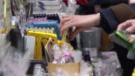 CU Shot of People shopping Chocolate at department store for Valentine's Day / Seoul, Seoul, South Korea