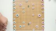 MS Shot of Playing chinese chess / Seoul, South Korea