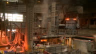 MS Shot of production hall at steel works / Esch sur Alzette, Esch, Luxembourg