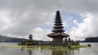 MS Shot of Pura Ulun Danu temple at Lake Bratan / Bedugul, Bali, Indonesia