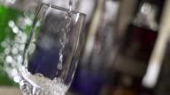 CU SLO MO Shot of Putting water into glass / Sao Paulo, Brazil