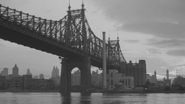WS Shot of Queensboro bridge /