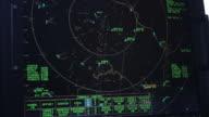CU R/F Shot of radar screen in air traffic control tower / Sterling, Virginia, United States