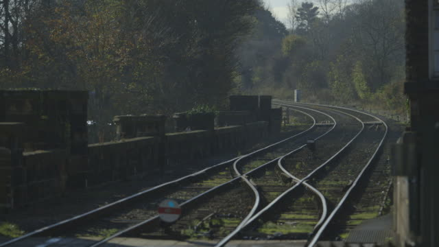 WS Shot of Rail Tracks / Knaresborough, North Yorkshire, United kingdom