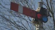 CU Shot of Railway signaler / kKnaresborough, North Yorkshire, United kingdom