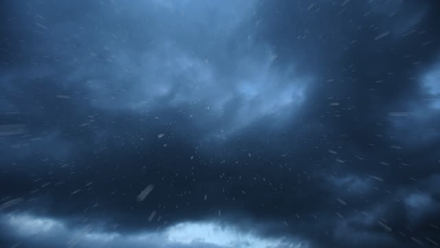 CU T/L Shot of Rain clouds passing with rain drops / Bergen, Hordaland, Norway