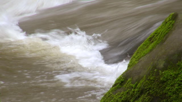ECU Shot of rapids in river Pruem / Irrel, Rhineland-Palatinate, Germany