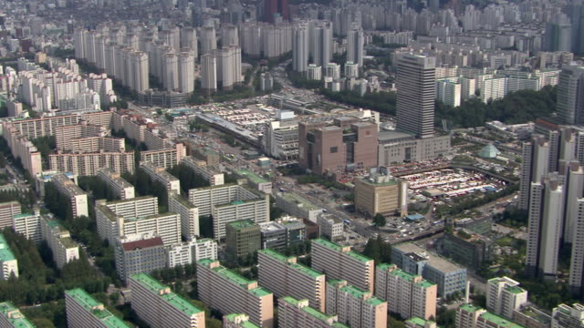 Shot of residential district near Express Bus Terminal Station at Banpo-dong