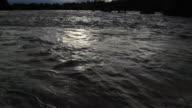 MS TU Shot of river and sky at sunset / Campo Novo do Parecis, Mato Grossso, Brazil