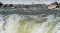 MS Shot of river rapids / Unspecified