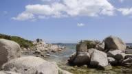 MS Shot of Rocky coast, nature preserve / Palombaggia, Corsica, France