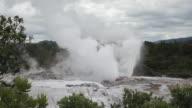 MS TU Shot of Rotorua gush springs / Rotorua, New Zealand