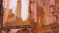 CU Shot of rusty iron, Museum Les Mineurs Wendel / Petite Rosselle, Lorraine, France