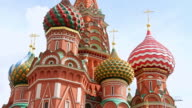 CU Shot of Saint Basil / Moscow, Russia