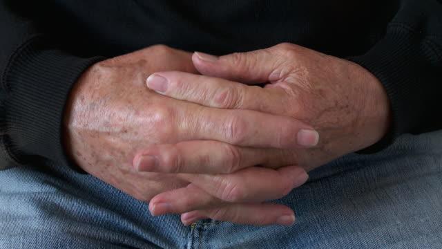MS Shot of senior male hands  / Estepona,Espana, Malaga, Spain