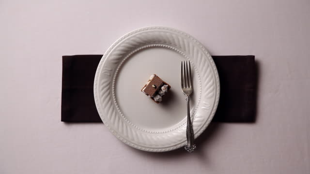 Shot of setting appetizers alternately on the white appetizer plate