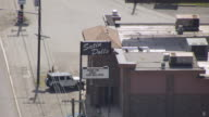 MS AERIAL Shot of sign at Satin Dolls / Lodi, New Jersey, United States