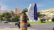 MS Shot of Signage at entrance to Estepona Port, Costa del Sol / Estepona,Espana, Malaga, Spain
