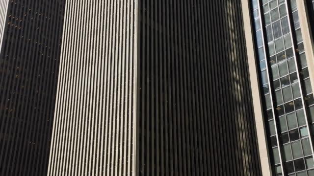 MS PAN Shot of skyscraper at Avenue of America / New York, United States