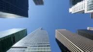 WS PAN Shot of skyscraper at Avenue of America / New York, United States