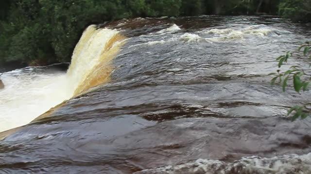 MS PAN Shot of small Waterfall / Tangara da Serra, Mato Grossso, Brazil