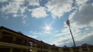 MS Shot of Sports pitch floodlights / Cape Town, South Africa