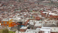 WS PAN Shot of sprawling Ciudad Bolivar slum / Bogota, Colombia