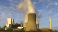 MS Shot of steam coming out from coal power plant RWE / Neurath, North Rhine Westphalia, Germany