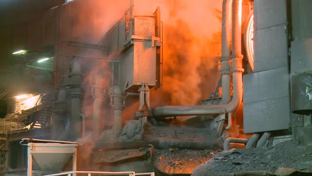 MS Shot of steel works, converting furnace / Esch sur Alzette, Esch, Luxembourg
