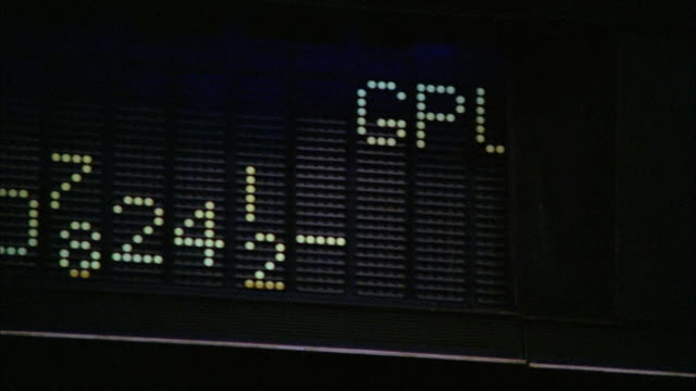 CU PAN Shot of stock exchange tote board