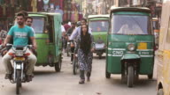 MS Shot of Streets of Old Lahore / Old city of Lahore Punjab Pakistan