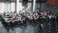 WS HA Shot of Students in Beijing University Library / Beijing, China