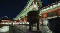 MS T/L PAN Shot of suwon Hwaseong Castes Bongsudang Building (UNESCO Heritage) / Suwon, Kyonggi-Do Province, South Korea