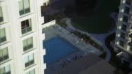 MS Shot of swimming pool