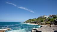 WS TD T/L Shot of Sydney bondi beach / Sydney, new south wales, Australia