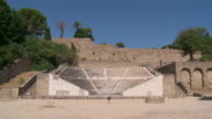 MS Shot of The Amphitheater at Rhodes Acropolis / Rhodes, Dodecanese islands, Greece