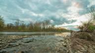 T/L 8K shot of the river at dusk