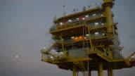 MS LA Shot of top part of oil rig / Qatar