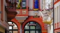 MS Shot of town hall at market square / Bernkastel Kues, Rhineland Palatinate, Germany
