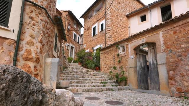 MS Shot of town near Soller / Fornalutx, Mallorca, Balearic Islands, Spain