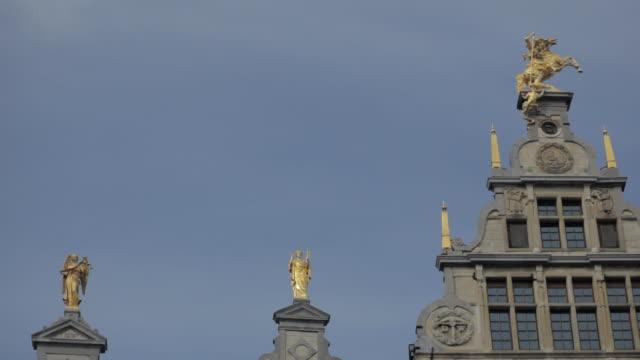 MS Shot of town square building / Antwerp, Belgium