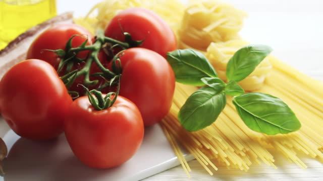 CU PAN Shot of traditional italian ingredients / London, United Kingdom