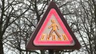 CU Shot of traffic sign / Paris, Ile de France, France