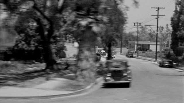 MS SIDE POV Shot of train passing through Los Angeles near Pasadena area