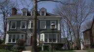 MS POV Shot of upper class suburban neighborhood / Detroit, Michigan, United States