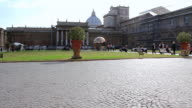 MS Shot of Vatican with people / Roma, Italy
