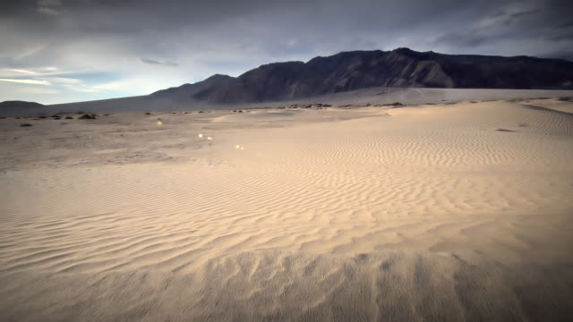 MS POV Shot of walking on sand dunes / Death Valley NP, California, United States