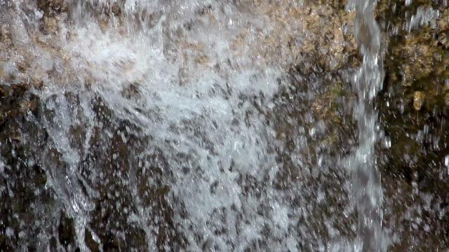 CU SLO MO Shot of Water Falls / Europe, Lisbon, Portugal